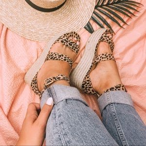 Shoes - XOXO | Platform Espadrille Sandals Cheetah Print